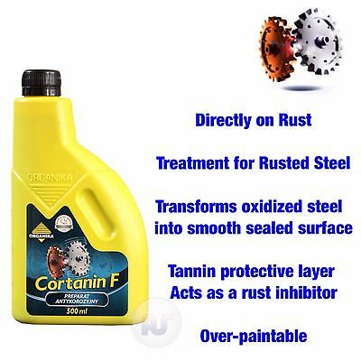 Anti Rust Treatment Converter Protects Car Metal CORTANIN F Stop Corrosion 500ml