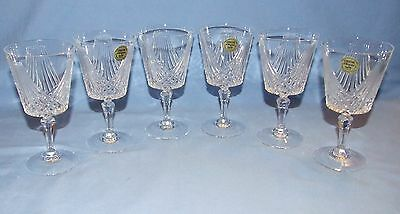 Cristal d'Arques Chantilly Taille' Crystal Wine Glasses-Set of 6-Discontinued