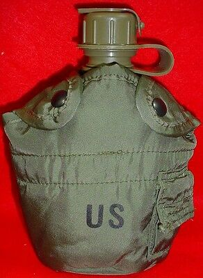 1 Quart Military Canteen New Cover With 2 Alice Clips FREE SHIPPING