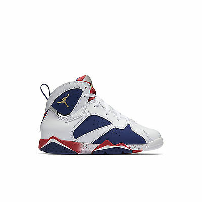96ee89a7a0f5b6 Air Jordan 7 Retro Olympic Tinker Alternate Little Kid Shoes White Blue Red