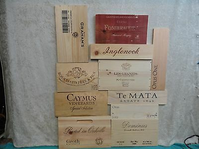 11 Wood Wine Panel End Lot As Pictured Wall Art France Italy Napa Valley Lot 281