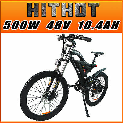 Addmotor HITHOT H5 Mountain Electric Bicycles 500W 48V Samsung Cell Battery Bike