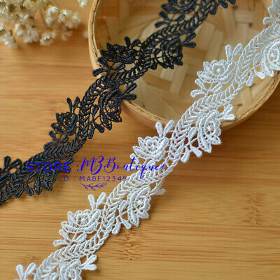 FP194 1 Yard, Lace Trim Ribbon For Dress Skirt Veil Embroidered DIY Sewing Craft