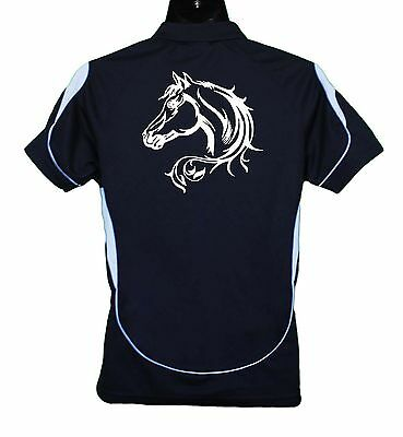 Horse Polo Shirt Horse Head With Scrolls Brand New #ps002