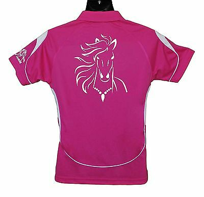Horse Polo Shirt Horse With Wind In Mane Brand New #ps004