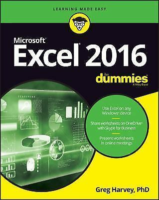 Excel 2016 for Dummies by Greg Harvey (2016, Paperback)