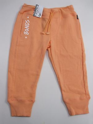 Bonds Kids Boys Girls Standard Trackie Track Pants size 3 4 5 6 7 Colour Apricot