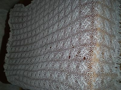 Vintage beautiful Handmade Fine Cotton tablecloth