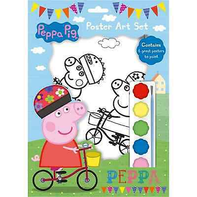 Peppa Pig Poster Art Paint Set Painting Activity Craft Kit Picture Colouring Art