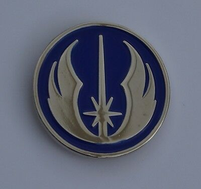 Star Wars Blue and Silver Jedi Order Emblem Quality Enamel Pin Badge