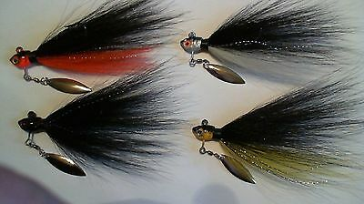 5 - 1/4 oz. - UNDERSPIN TIED BUCKTAIL WITH BLADES ATTACHED - Assorted colors