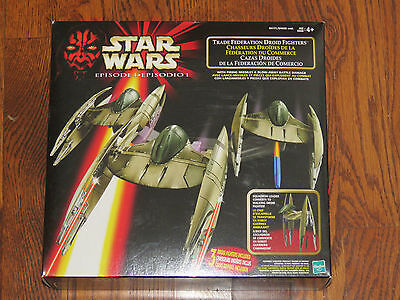 Star Wars Ep I Trade Federation 3 Droid Fighters With Firing Missiles New NISB