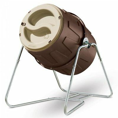Tumbling Barrel Composter Bins Outdoor Yard Lawn Garden Durable Fast Waste Stand