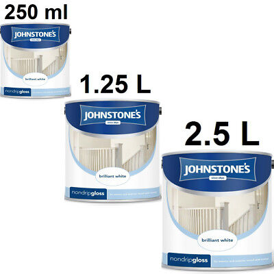 Johnstones Non Drip Gloss  Brilliant White For Interior Exterior Wood and Metal
