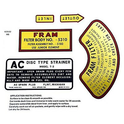 Willys Mb Engine Detail Decal Set High Quality
