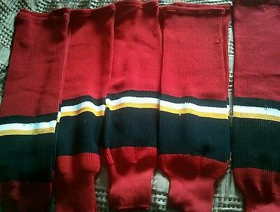 Calgary Flames style  Away Red socks NHL
