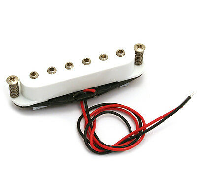 PU-WSH-M Strat/Stratocaster Replacement Hex Pole Middle Pickup w/ White Cover