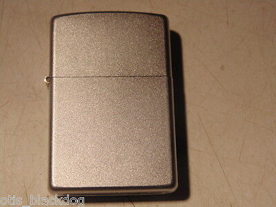 """Zippo Lighter,brushed Steel, Very Good. Dated """"e  01"""""""