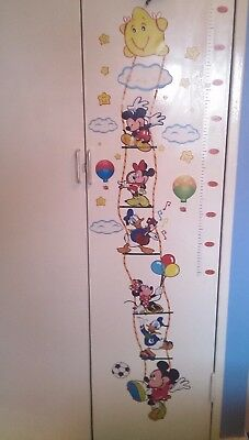 Disney Mickey Mouse Kids Height Chart Wall Sticker