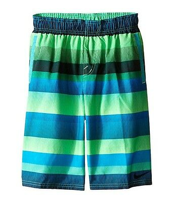 New Nike Swim Suit Board Shorts Trunks Boys S M L Xl Volley Voltage Green
