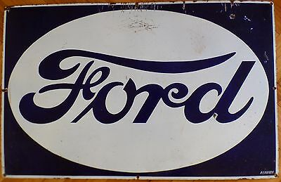 Antique FORD  Vintage Enamel Porcelain Advertising Sign ORIGINAL
