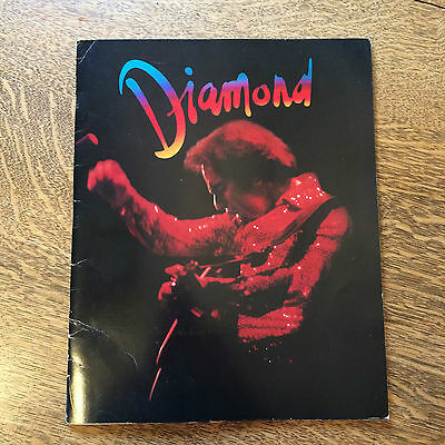 Neil Diamond Tour Book '82 On the Way to the Sky Tour w/ Vellum Page Heartlight