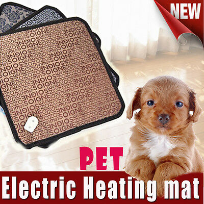 Pet Electric Heat Heater Heating Heated Pad Mat Blanket Bed for Dog Cat Bunny AU