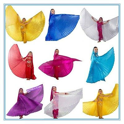 White / Gold / Silver Baby Belly Dance Costume Children's isis wings 10 colours