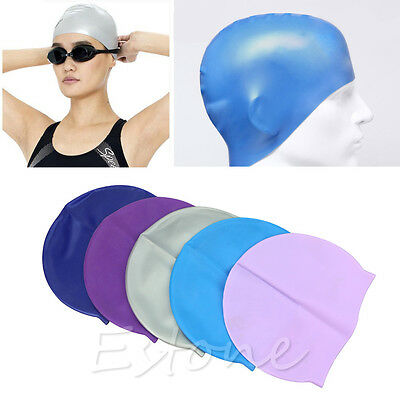 Adult Sports Silicone Swim Cap Flexible Durable Elasticity Swimming Hat HOT
