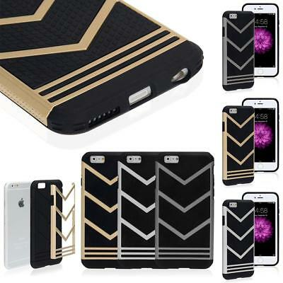 Protective Soft Frame Bumper Hybrid Rubber Case Cover Skin for iPhone 5S/6S Plus