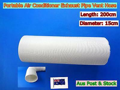 Portable Air Conditioner Spare Parts Exhaust Pipe Vent Hose Only (200cmx15cm)