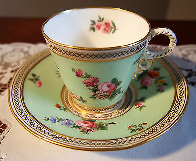 Antique English Floral Cup and Saucer