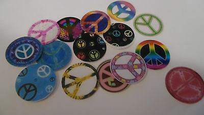 Pre Cut One Inch Bottle Cap Images PEACE SIGNS Free Shipping