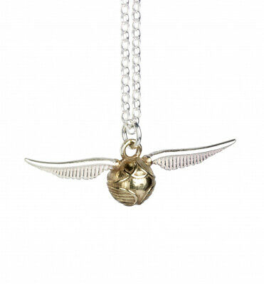 Harry Potter : GOLDEN SNITCH PENDANT Sterling Silver from the Carat Shop