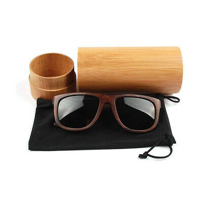 Vintage Retro Handmade Men Women Bamboo Wooden Sunglasses Box Frame Glasses Case