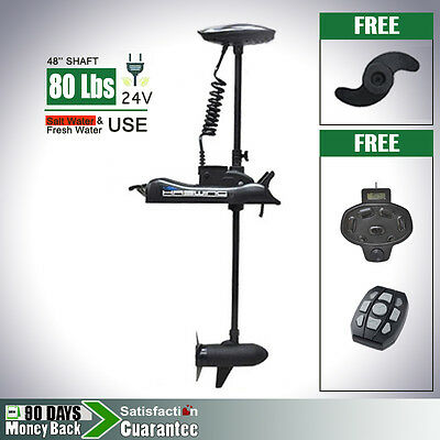 CaymanB 24V 80 lbs Bow Mount Electric Trolling Motor Variable Speed Foot Pedal