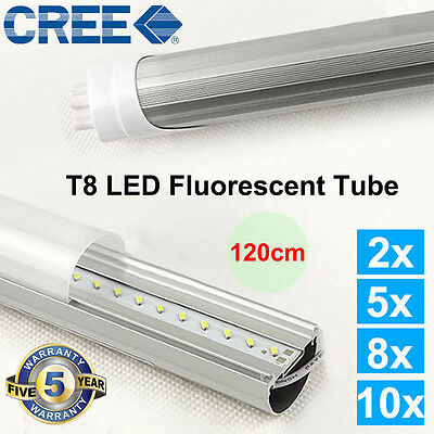 AU Ship T8 LED TUBE 120cm 18w COOL WHITE FROSTED New BULB SAA CREE High Quality