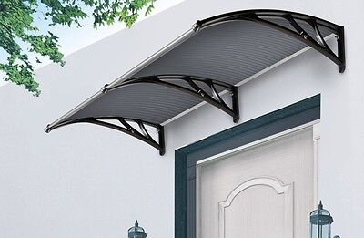 Outdoor Window Awning Cover Canopy The Hamilton 3000x1200mm Black w/tinted Cover