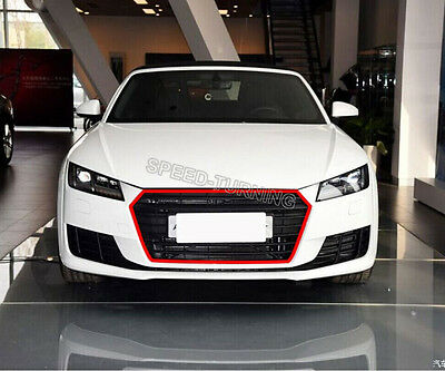 TTRS Style Front Grill Black Honeycomb Grilles fit for Audi TT MK3 8S 2015-2016