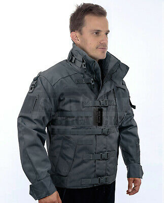 Military Special OPS Tactical Jacket Waterproof Hard Shell Jacket Coat Black/Tan