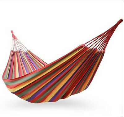 Canvas Garden Red Hammock Outdoor Camping Portable Beach Swing Bed Fashion