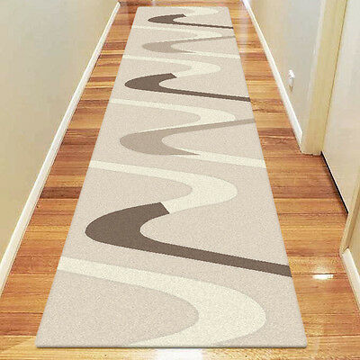 New ASPEN Modern Large HALLWAY RUNNER RUGS / CARPET in 80 x 300 cm FREE POSTAGE
