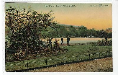 THE POND, ELDER PARK, GOVAN: Glasgow postcard (C20269)
