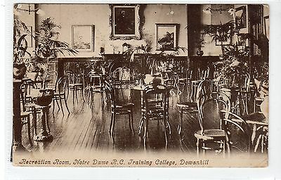 REC ROOM, NOTRE DAME R.C. TRAINING COLLEGE, DOWANHILL: Glasgow postcard (C20271)