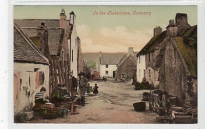 IN THE FISHERTOWN, CROMARTY: Ross-shire postcard (C20020)