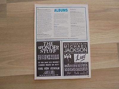 The Wonder Stuff ad_MAGAZINE CLIPPINGS_ships from AUS!__5d