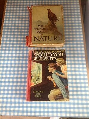Vintage Wonder Books Of Nature & Would You Believe It  1950s Retro