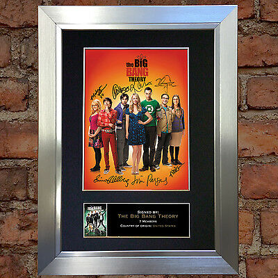 BIG BANG THEORY Signed Autograph Mounted Reproduction Photo A4 Print 272