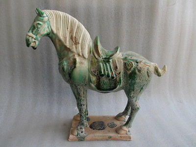 19.8 cm * / Tang sancai ceramics collection horses in ancient China