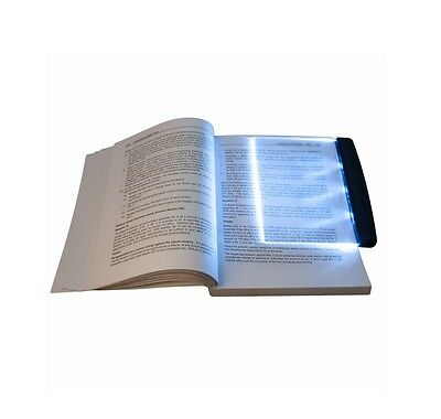Magic Night Vision LED Book Reader Flat Light Lamp Bookmark Travel Reading Car